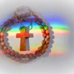 rosary overcome by rainbow